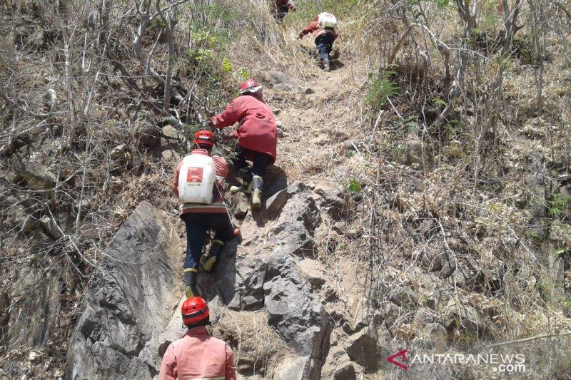 Damkar masih lakukan pemadaman api di Bukit Pandanan Lombok Utara