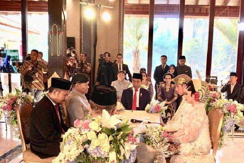 Jokowi-JK jadi saksi pernikahan anak Ketua DPR RI Bambang Soesatyo