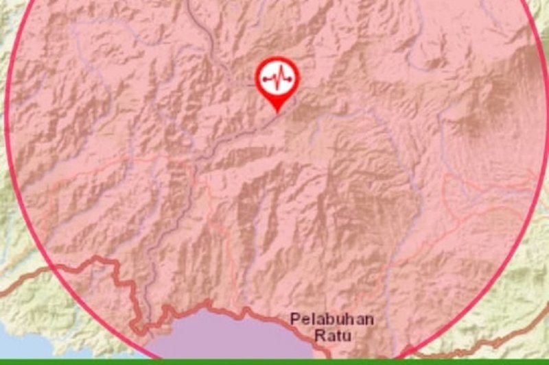 Gempa 3,9 SR getarkan wilayah Sukabumi
