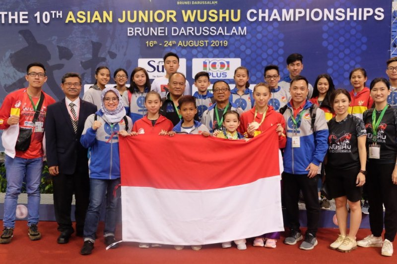 Atlet cilik Indonesia raih emas  kejuaraan wushu junior Asia
