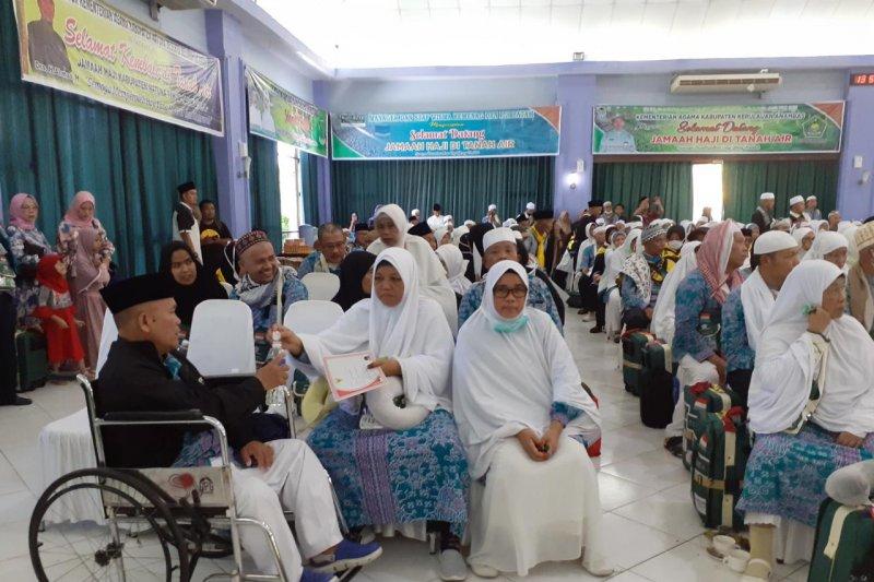 447 jamaah haji kloter 05 sudah mendarat dengan selamat di Batam