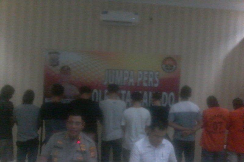 Polresta Manado ungkap kasus narkotika dengan 13 tersangka