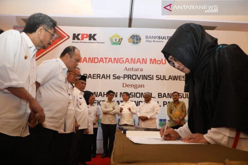 KPK saksikan penandatangan MoU Pemprov dan Bank Sultra