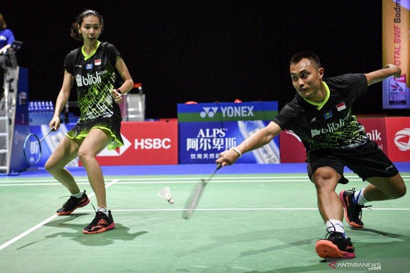 Pasangan Hafiz/Gloria kalah pada penyisihan kedua BWF World Tour Finals