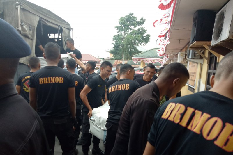 Bantu pemulihan keamanan, dua SSK Brimob Malut dan Gorontalo tiba di Timika