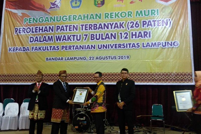 Unila raih penghargaan kategori hak paten terbanyak dari Muri
