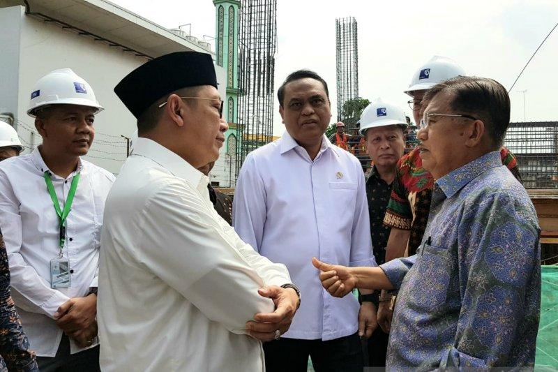 JK tinjau proses pembangunan UIII, Kantor DMI dan Masjid Istiqlal