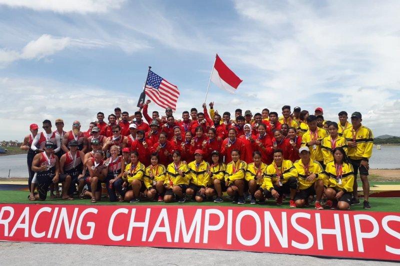 Indonesia Raya berkumandang lagi pada kejuaraan dunia perahu naga