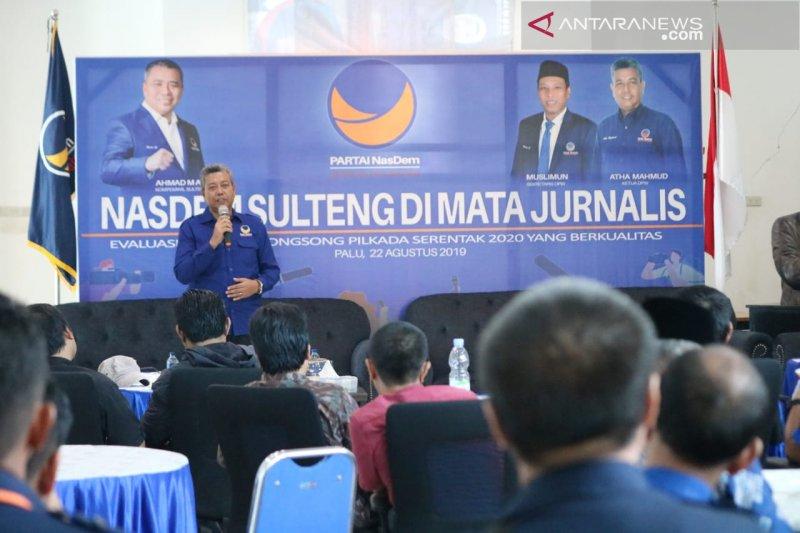 Partai NasDem Sulteng tindaklanjuti kritik dan saran Jurnalis