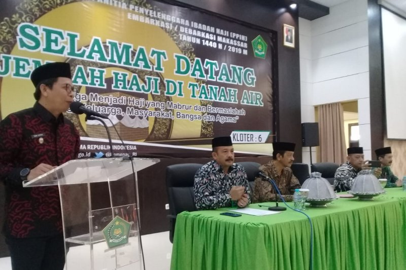 Kloter 6 tiba lebih awal di Makassar