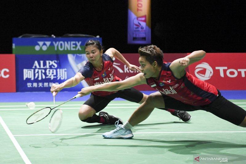 Bermain tiga set, Greysia/Apriyani melangkah ke semifinal