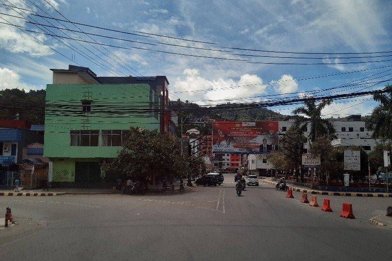 Suasana jalan Jayapura sepi setelah diisukan unjuk rasa