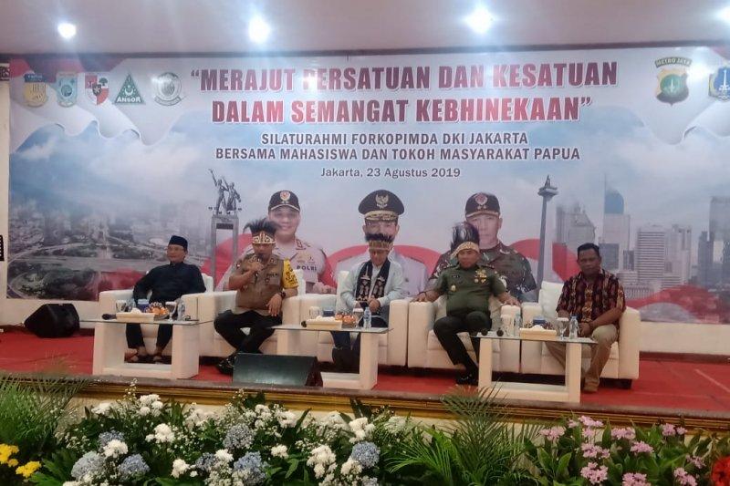 Fokopimda Jakarta bertemu tokoh/mahasiswa Papua bicarakan kebinekaan