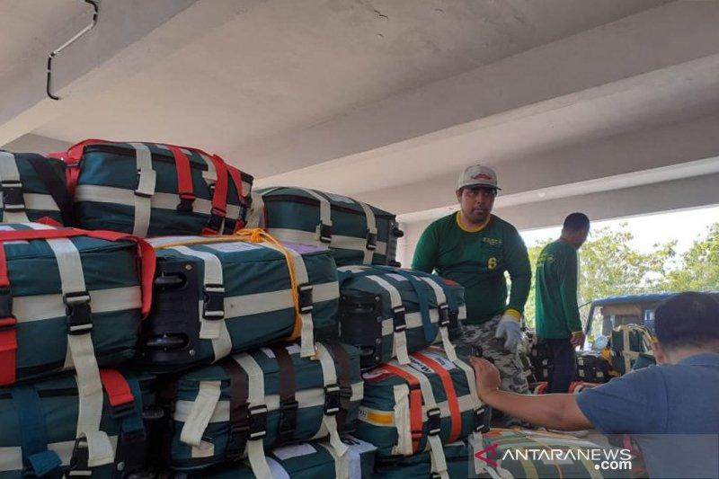 Tertunda dua jam kedatangan pesawat kloter 6 Debarkasi Batam