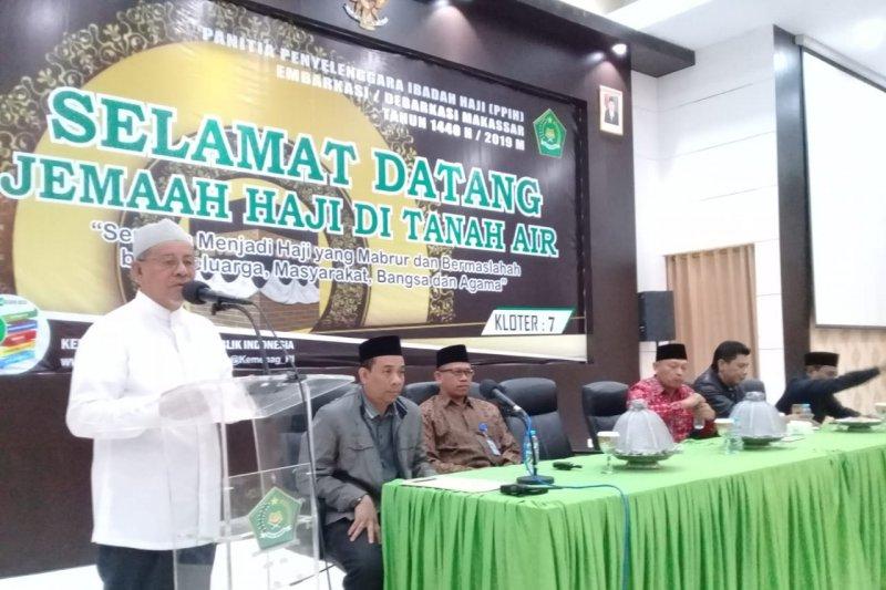 3.178 jamaah haji debarkasi Makassar kembali ke Tanah Air