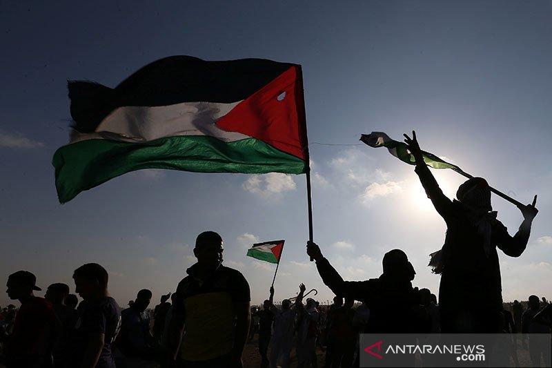 Unjuk rasa warga sipil anti Israel di Jalur Gaza Selatan