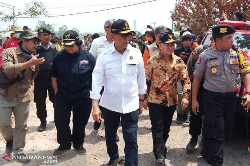 Gubernur Kalteng: Tindak tegas pembakar lahan tanpa pandang bulu
