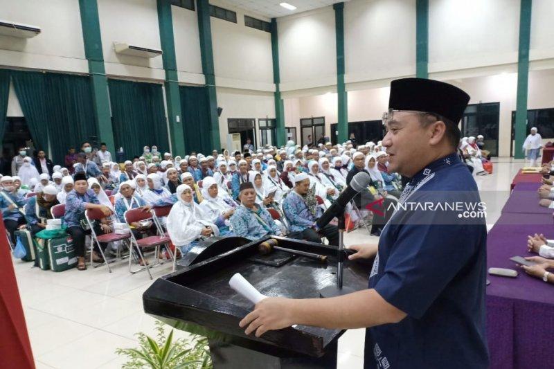 Jamaah haji Bangka Belitung tiba di Palembang