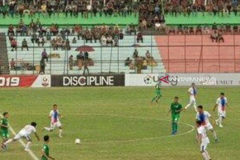 PSMS Medan ditahan imbang tamunya PSPS 0-0