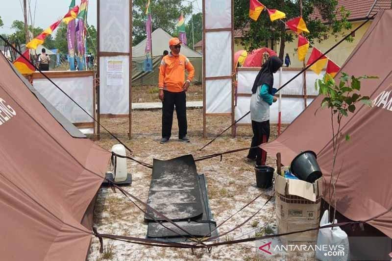 Ratusan anggota pramuka sudah hadir di Perkemahan Wirakarya Kalteng