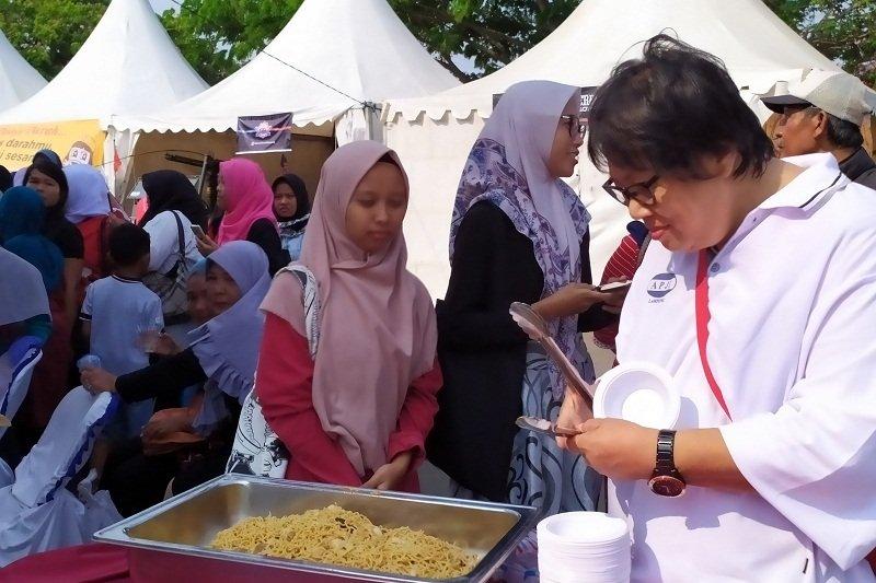 Mie Seruit kreasi kuliner tradisional hadir di Festival Karakatau 2019