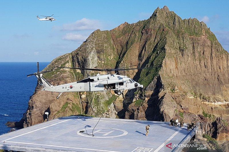 Korsel latihan militer di sekitar pulau sengketa dengan Jepang