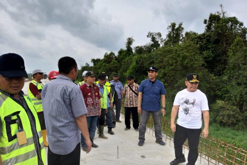 Gubernur Kalteng kembali pantau jalan layang Pangkalan Bun-Kolam