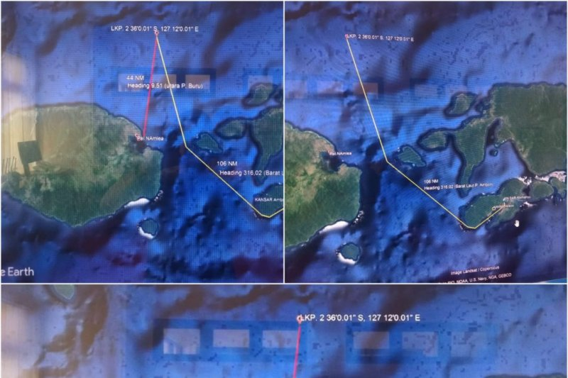 Kapal kargo berpenumpang puluhan orang hilang kontak