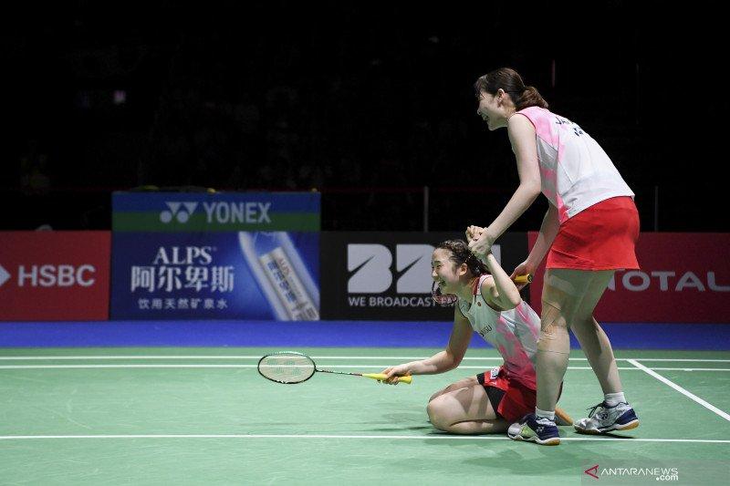 Dua ganda putri Jepang kalah di semifinal Denmark Open