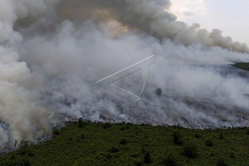 Helikopter pembom air memadamkan kebakaran di Sumatera Selatan