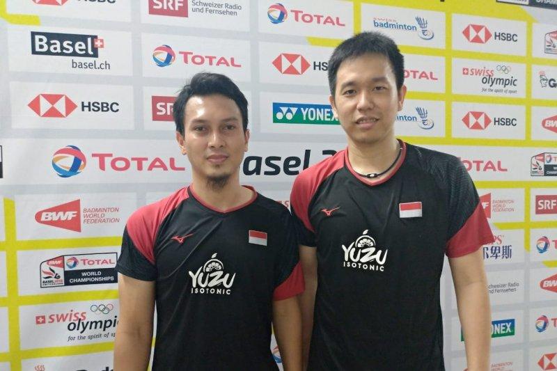 Hendra/Ahsa melenggang menuju final Kejuaraan Dunia