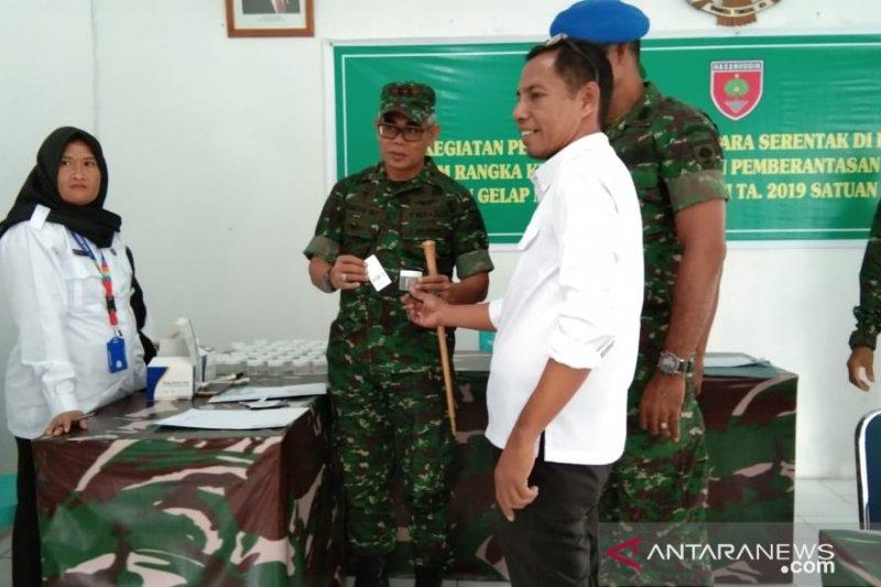 Prajurit TNI Kolaka jalani tes urine