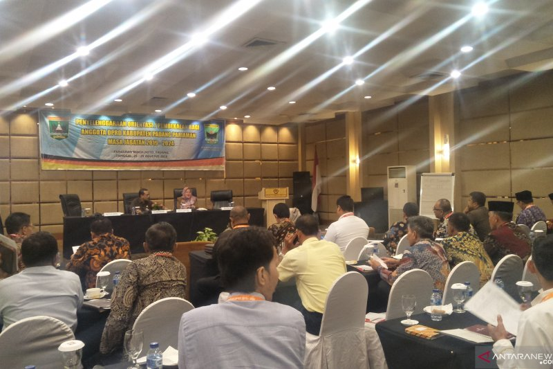 40 anggota DPRD Padang Pariaman baru terpilih ikuti pembekalan