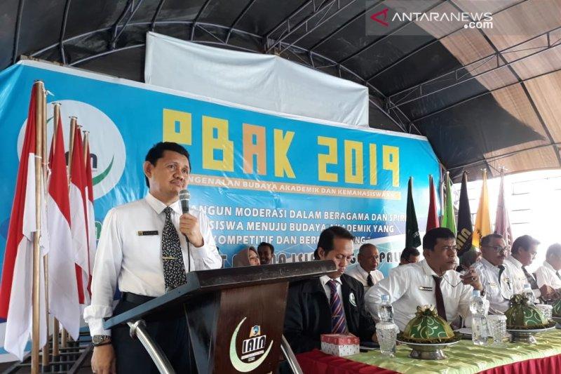 Rektor IAIN Palu anjurkan mahasiswa baru ikut organisasi intra kampus