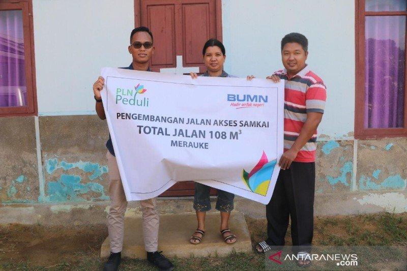 PLN UIP Papua bantu pembangunan jalan akses ke gereja di Merauke