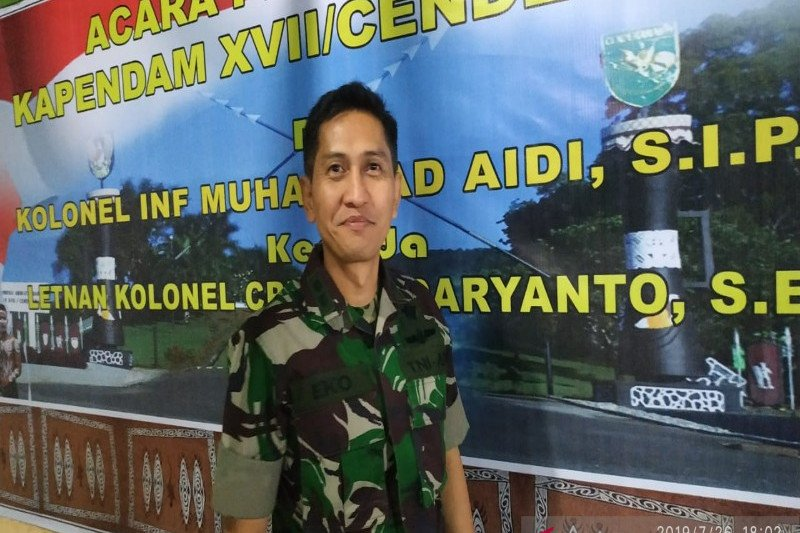 Kapendam Cenderawasih : Jenazah Serda Rikson segera dievakuasi ke Nabire