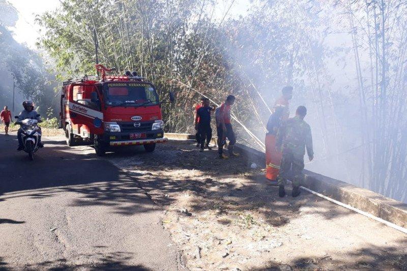 Satu hektare pesisir Danau Tondano  terbakar