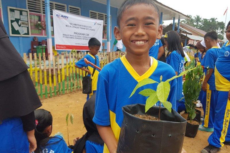 Pertamina inisiasi Sekolah  Peduli Aliran Sungai di Desa Merbau
