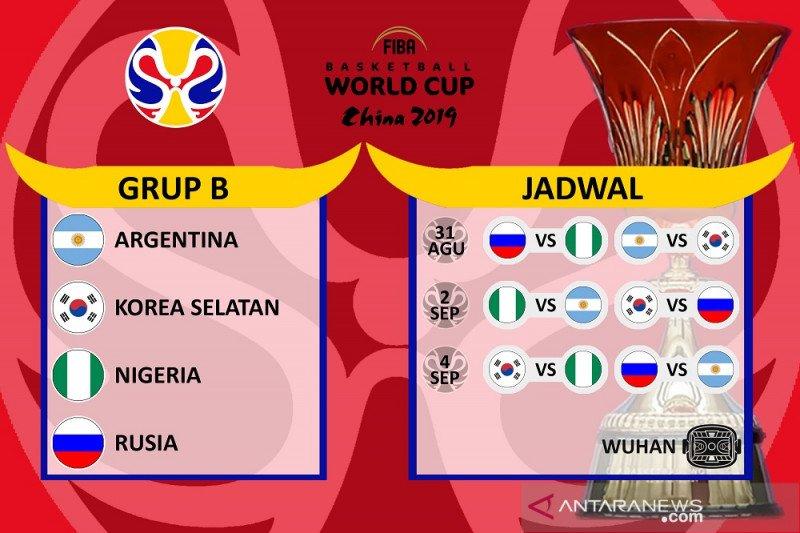 Argentina paling diunggulkan di Grup B Piala Dunia FIBA 2019
