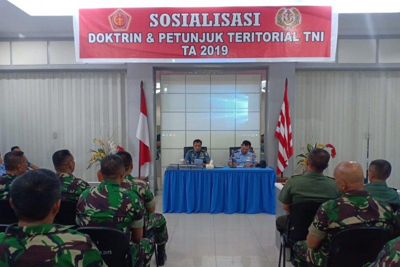 Lantamal VIII gelar sosialisasi doktrin dan petunjuk teritorial TNI