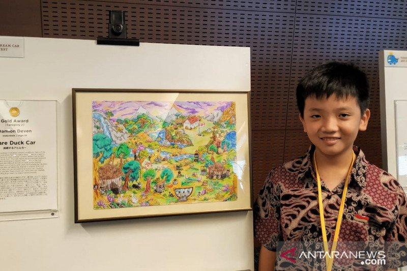 Anak Indonesia raih penghargaan tertinggi pada ajang gambar Toyota Jepang