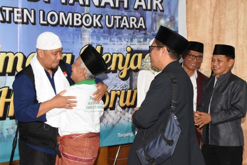Rombongan Jamaah Haji Lombok Utara Telah Kembali