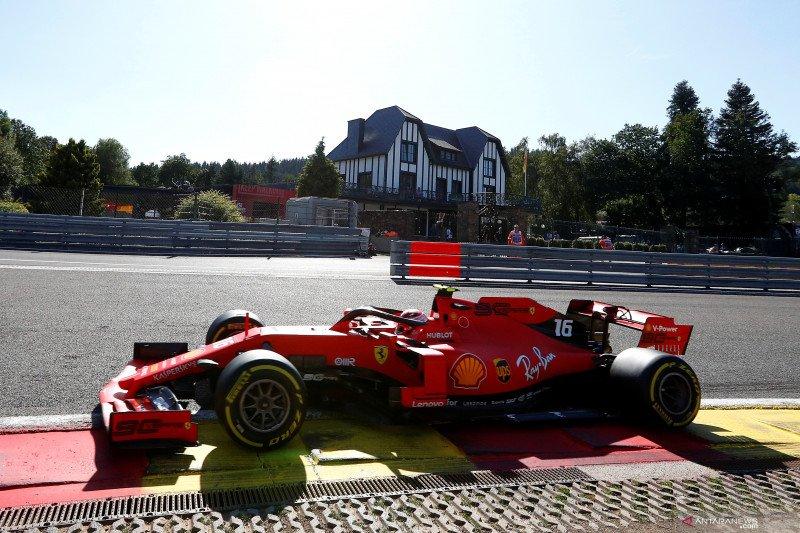 Duo Ferrari  dominasi sesi latihan GP Belgia
