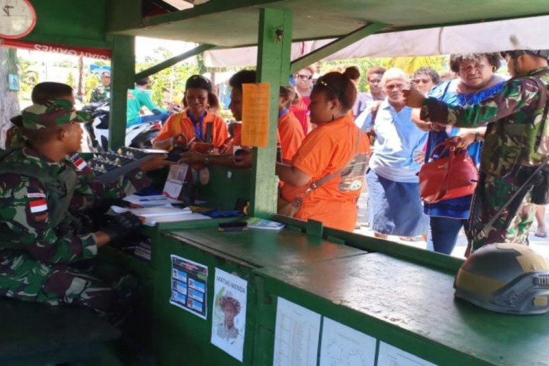 Papua Terkini - Aktivitas di Pasar Skouw perbatasan RI-PNG tidak terdampak demo rasisme