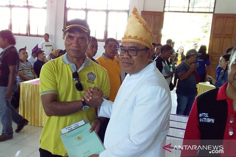 BPN Kabupaten Sangihe serahkan 920 sertifikat tanah