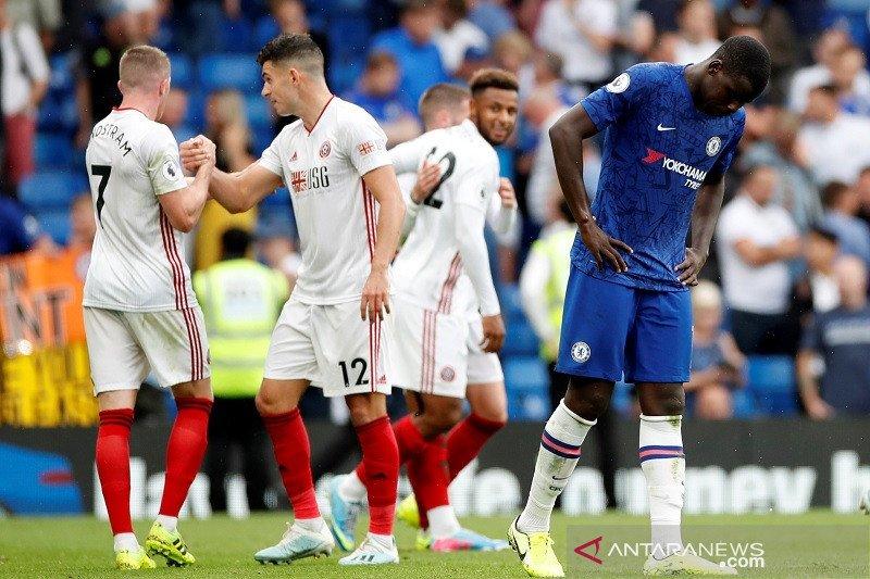 Chelsea ditahan imbang Sheffield 2-2