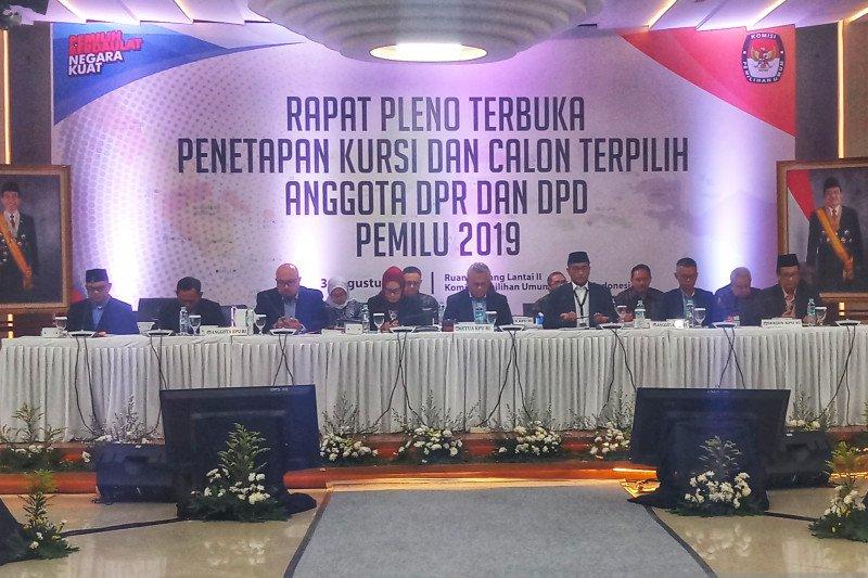 KPU tetapkan 9 Parpol lolos ke parlemen