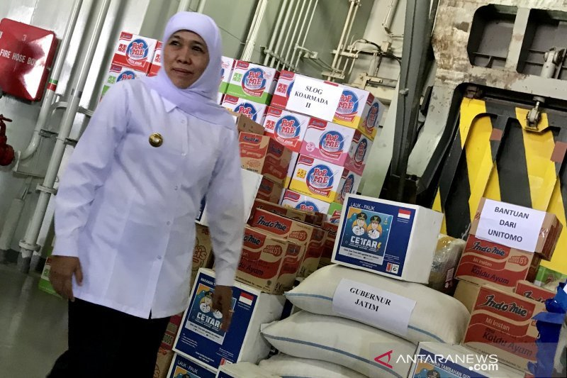 Bantuan logistik dikirimkan Gubernur Jatim-TNI AL ke Papua