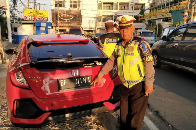 Polresta Bandarlampung tilang 905 pelanggar lalu lintas