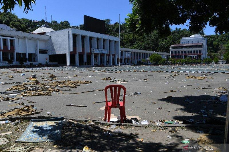 Papua Terkini - Ruang Kantor Pemprov Papua sebagian dirusak demonstran
